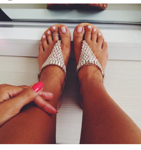 shoes, sandals, flats, nail polish, toe ring