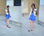 skirt,blue suede skirt,blue skirt,suede skirt,mini skirt,top,crop tops,black crop top,mesh top,sandals,black sandals,jacket,nude jacket