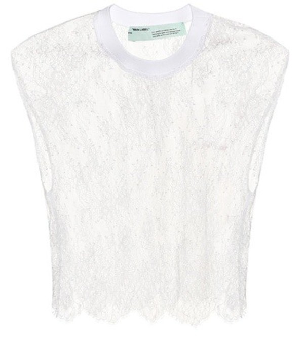 Off-White Lace crop top in white