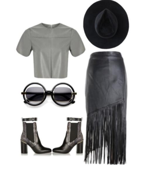 fringes blackskirt