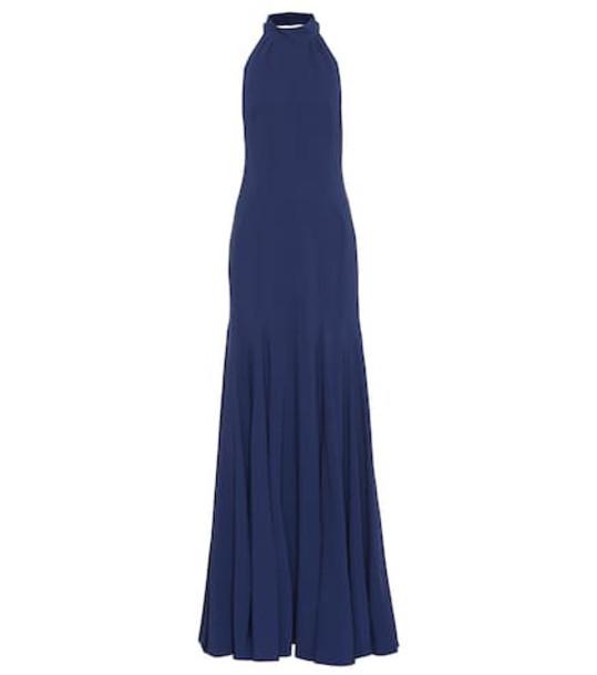 Stella McCartney Stretch silk gown in blue