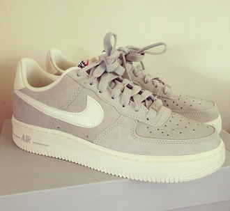 shoes sneakers beige nike air laces white