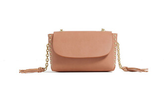 bag pink bag crossbody bag studs