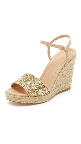 sandals wedge sandals gold shoes