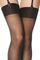 Bas nylon gerbe t3 noir tentation 15 d grand revers pinup glamour sexy stockings