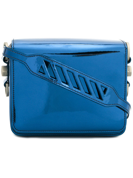 women bag leather blue