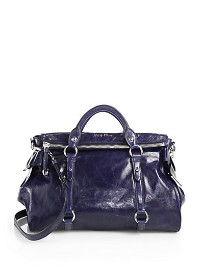Miu Miu - Vitello Lux Large Bow Bag - Saks.com