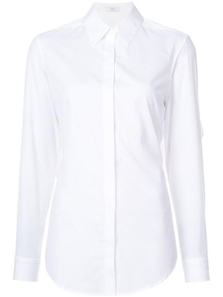 shirt women classic white cotton top