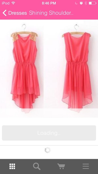 dress pink dress pink light pink gold style cute cute dress fashion clothes teen clothes