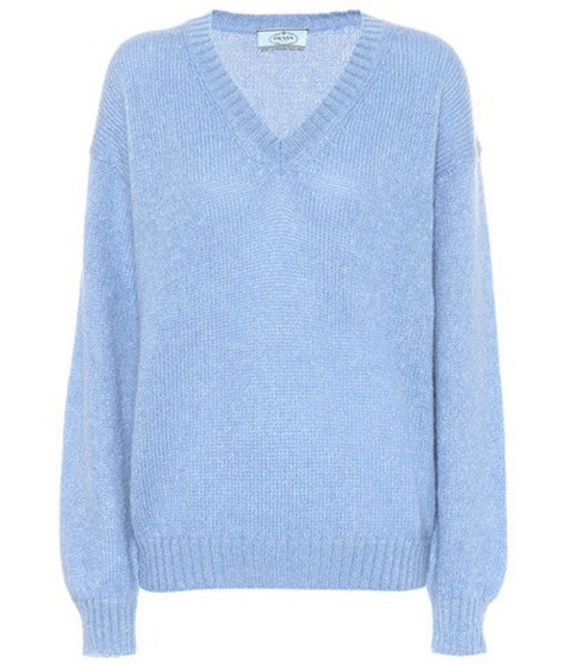 Prada Mohair and wool-blend sweater in blue