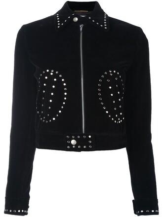 jacket studded jacket studded black