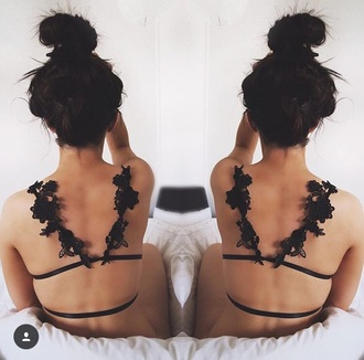underwear floral bralette lingerie top lingerie set black lingerie yokoyaki outfit gift ideas mesh lace bralette lace bra sexy lingerie sexy dress sexy bikini fashion coolture fashion week 2016 fashion style whole styling trendy summer summer outfits