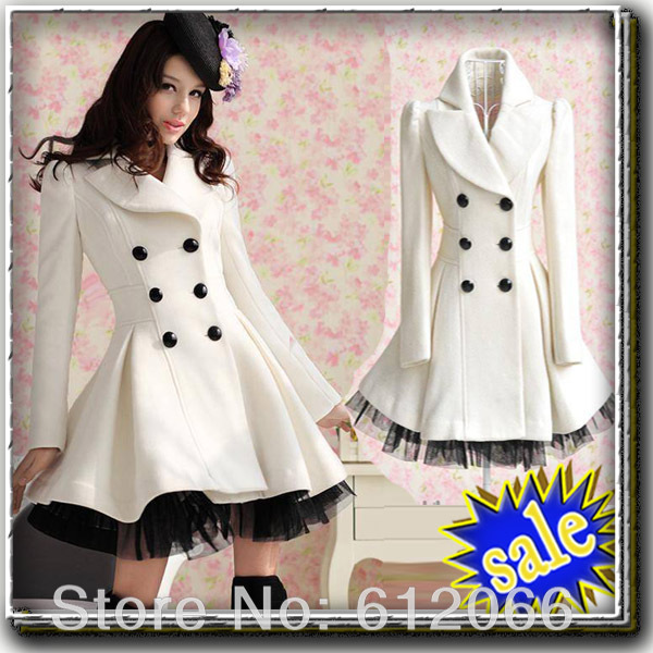 Slim Casual Women's Wool cashmere Coats double breasted trench Fashion long coat  C05010-in Wool & Blends from Apparel & Accessories on Aliexpress.com