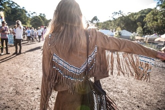 hippie boho chic boho camel fashion style fringes coachella fringed jacket
