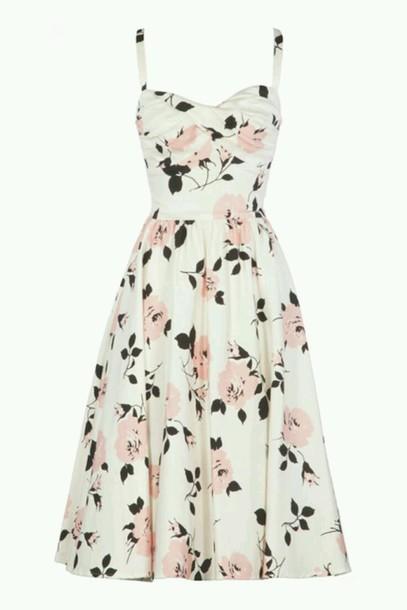 dress pattern floral dress white dress dress girly girly dress vintage dress