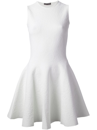 dress white dress alexander mcqueen