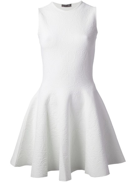 dress alexander mcqueen white dress