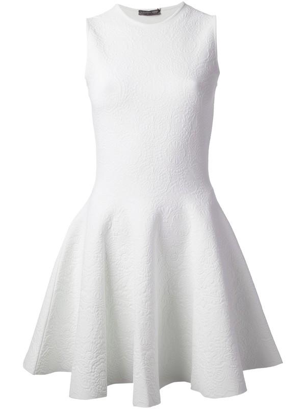 dress alexander mcqueen white dress