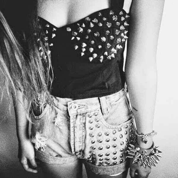 top black top studded top black studded top