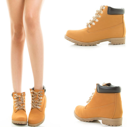 Chained workboots – wheat : glamorous and fabulous