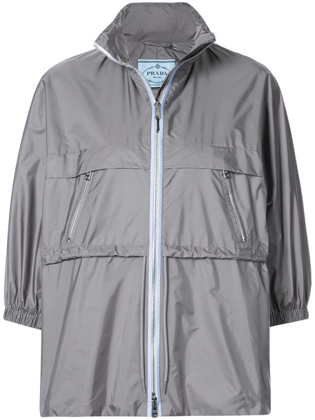 Prada jacket women grey