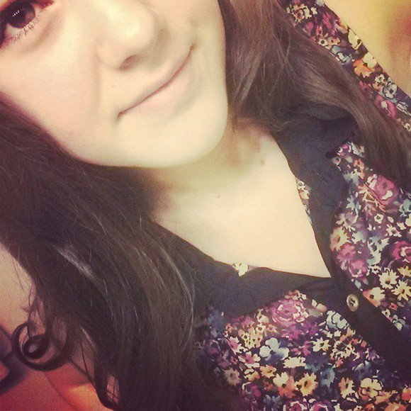 button up blouse floral shirt black trim