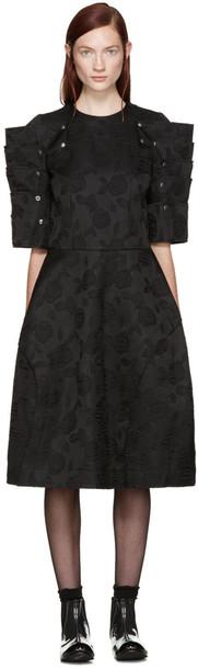 Comme Des Garçons Black Floral Jacquard Dress