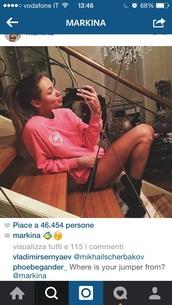 sweater,pink,instagram,victoria's secret,victoria secret sweater