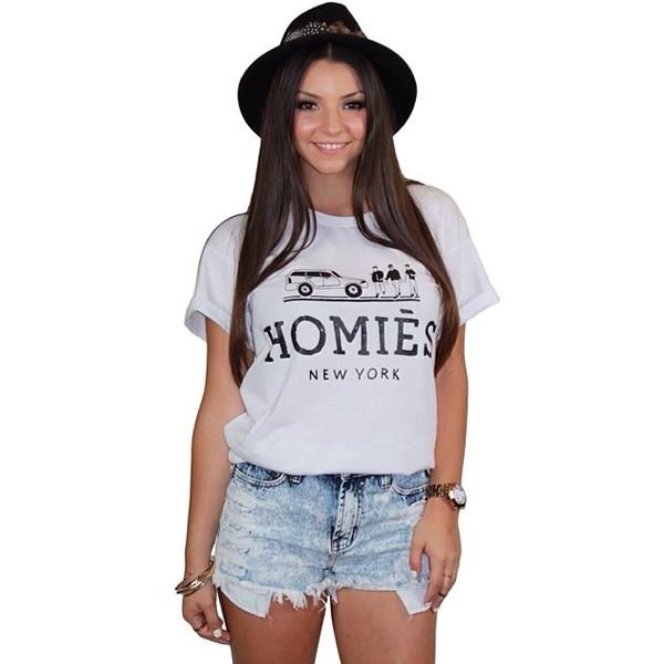 shirt homies homie ivory white funny