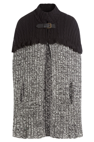 cape knit wool grey top