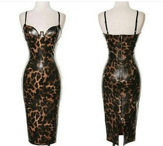 dress leopard print bustier dress kim kardashian dress print leather bodycon dress