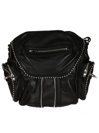 mini ball backpack black bag