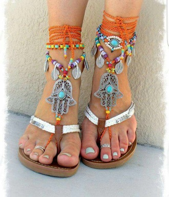 shoes multicolor sandals beach summer summer shoes