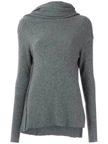 Uma Raquel Davidowicz - knitted sweater - women - Acrylic/Spandex/Elastane/Wool - PP, Grey, Acrylic/Spandex/Elastane/Wool