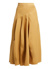 skirt,cotton,camel