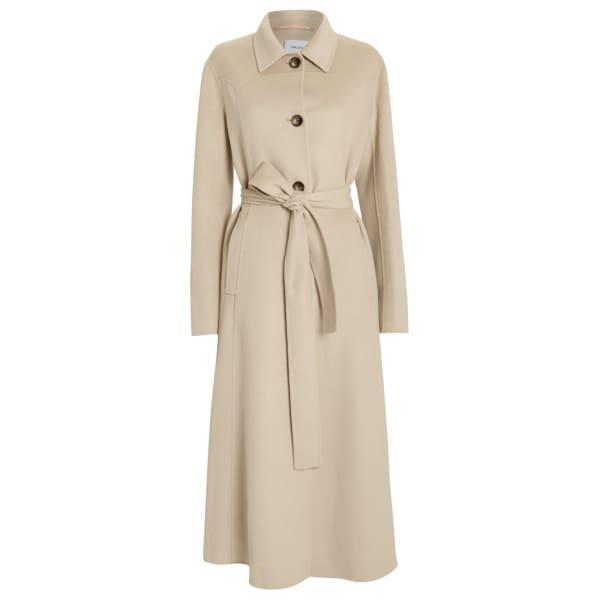 Nanushka Sira Belted Double Wool Coat