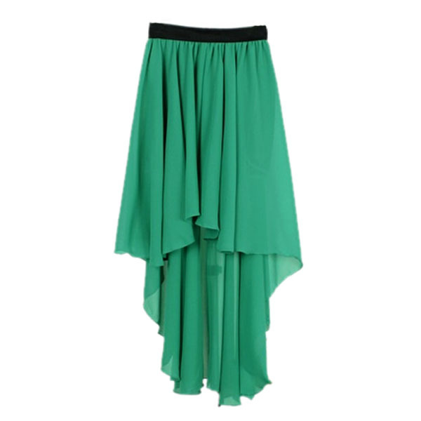 Women Chiffon Sexy Elegant Asymmetric Long Maxi Skirt Elastic Waist Band 9 Color | eBay