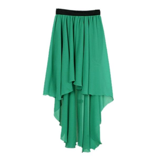 Women Chiffon Sexy Elegant Asymmetric Long Maxi Skirt Elastic Waist Band 9 Color | eBay