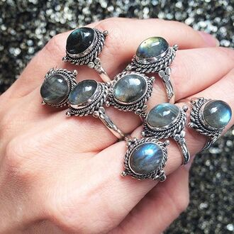 jewels shop dixi gypsy boho bohemian hippie grunge jewelry sterling silver jewelery ring labradorite