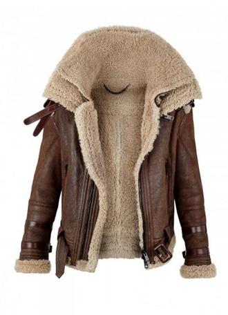 coat brown coat fur coat leather coat leather jacket fur jacket moto jacket jacket outerwear