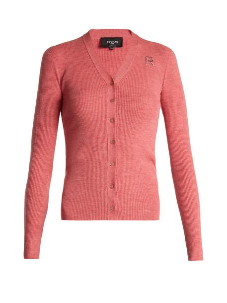 cardigan cardigan wool pink sweater