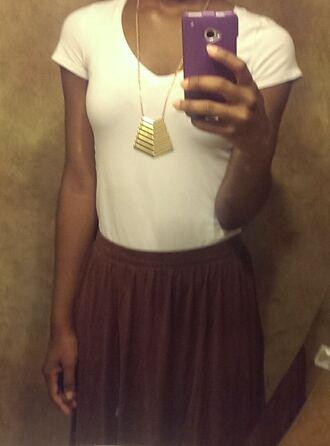 skirt brown skirt