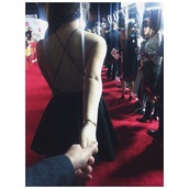 dress,cute dress,red carpet,strappy back,strappy dress,skater dress,prom dress,cute dress!,little black dress