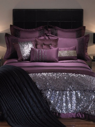 purple bed purple bedding purple bedding sequins sequin bed purple sequin bed purple sequin bedding silk bedding home accessory kylie minogue