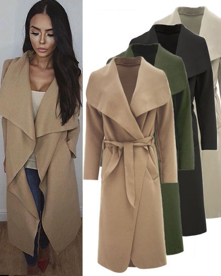 Waterfall Oversized Belted Coat