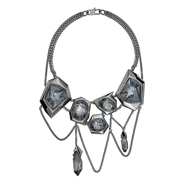 2019 best sell good quality new lifestyle Reverse Necklace, Ruthenium Plating | Atelier Swarovski