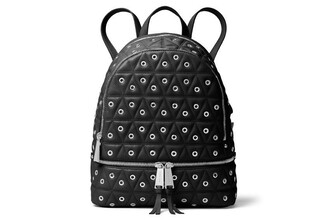 studs backpack leather backpack leather black bag