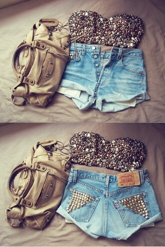 tank top crop tops embrodering shorts bag dress crop top bralette skater skirt blouse bustier silver glitter sparkly top