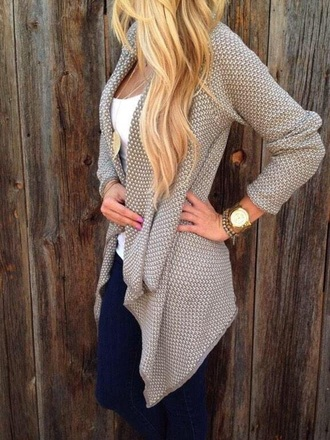 cardigan tan long sleeves