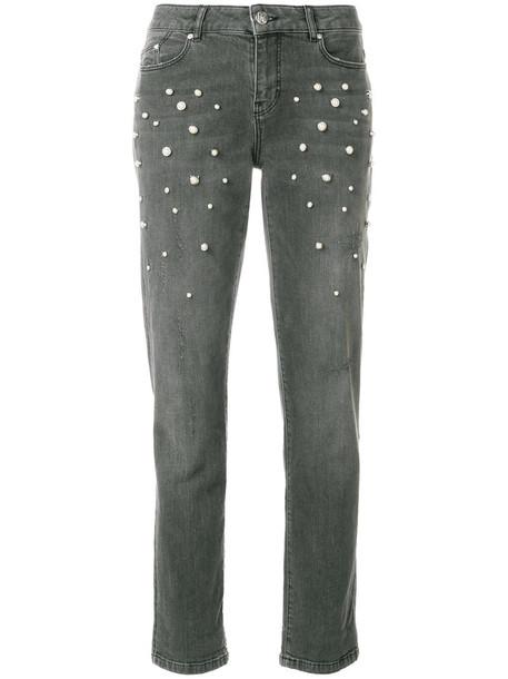 karl lagerfeld jeans women spandex pearl cotton grey